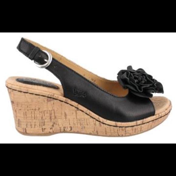 dd53d37bb3d3e B.O.C. Blossom black wedge sandal.